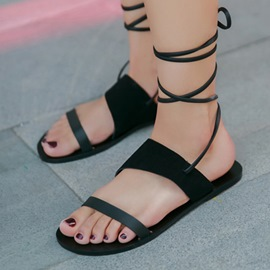 Ericdress New Roman Cross Straps Flat Sandals
