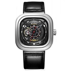 Sapphire Mirror Square Dial Watch