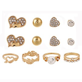 Heart Eight-Piece Jewelry Set
