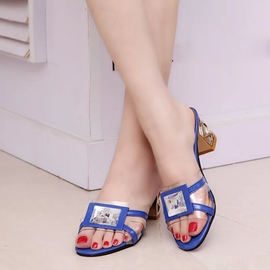 Ericdress Transparent Patchwork Mules Shoes