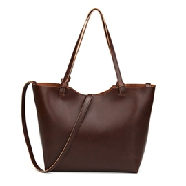 Ericdress Vintage Solid Color Calfskin Tote Bag