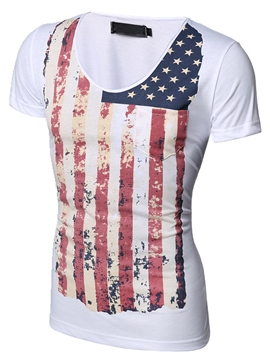 Ericdress Casual Short Sleeve Print Men's T-Shirt with Round Neck