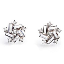 Lucky Windmill Crystal Stud Earrings