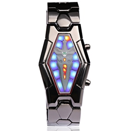 Black Steel Belt Electronic Watch