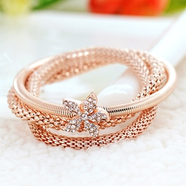 Flowers Multi-Layer Plating Alloy Bracelet