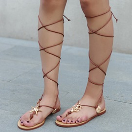 Ericdress Roman Cross Strap Starfish Flat Sandals