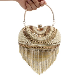 Ericdress Luxury Heart Shape Pearl Clutch