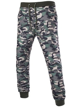 Ericdress Camouflage Lace-Up Casual Men's Pants