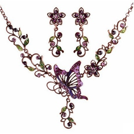 Palace BUTTERFLY FLOWERS Jewelry Set