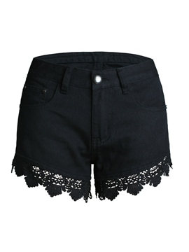 Ericdress Casual Lace Shorts
