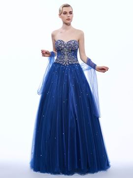 Ericdress A-Line Sweetheart Beading Long Evening Dress