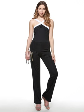 Ericdress Fashion Color Block Jumpsuits Pants