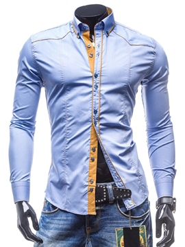 Ericdress Casual Slim Long Sleeve Men's Shirt