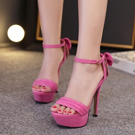 Ericdress Pretty Bowtie Open Toe Stiletto Sandals