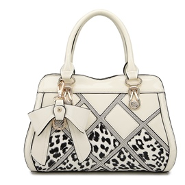 Ericdress Luxury Diamante Leopard Patchwork Handbag