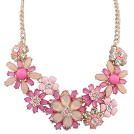 Riches and Honour Flowers Jelly Color Necklace