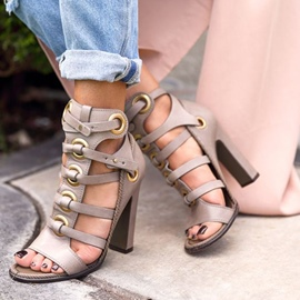 Ericdress Cut Out Open Toe Chunky Sandals