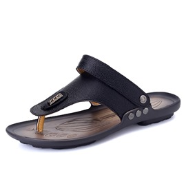Ericdress PU Thong Slingback Men's Beach Sandals