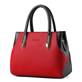 Ericdress Ladylike Color Block PU Handbag