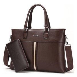 Ericdress Simple Color Block Men's Briefcase
