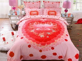 Ericdress Lakeside Romantic Love Print Wedding Bedding Sets