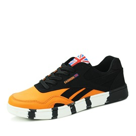 Ericdress Round Toe Color Block Lace-Up Men's Athletic Shoes