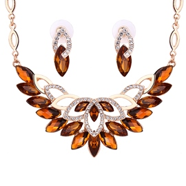 Ericdress Beautiful Crystal Inlaid Jewelry Set
