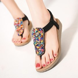 Ericdress Bohemian Elastic Band Flat Sandals
