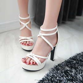 Ericdress Delicate Cross Strap Chunky Sandals