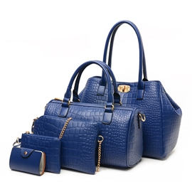 Ericdress Brief Style Croco-Embossed Handbags(5 Bags)