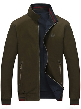 Ericdress Zip Pocket Casual Men's Jacket