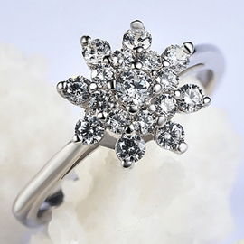 Ericdress Elegant Flower Beading Romantic Ring