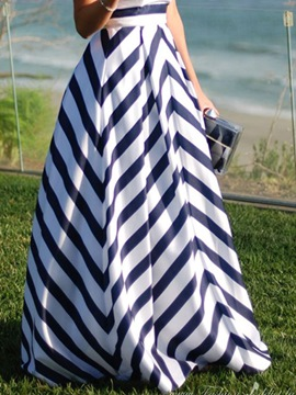 Ericdress Fashion Stripe Maxi Skirt