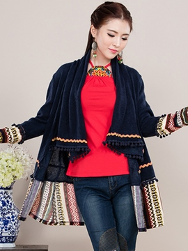Ericdress Loose Tassel Ethnic Cape