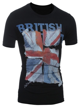 Ericdress Unique Flag Printed Slim Men's T-Shirt