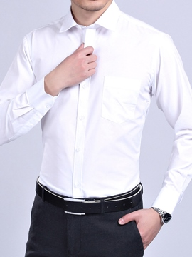 Ericdress Plain Stripe Formal Men's Shirt