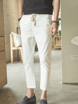 Ericdress Linen Nine Points Casual Men's Pencil Pants