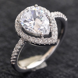 Fine Droplets Zircon Ring