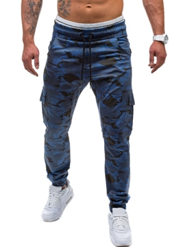 Ericdress Camouflage Lace-Up Sports Casual Men's Pants