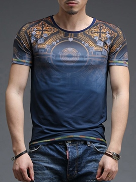 Ericdress Printed Smooth Casual Men's T-Shirt