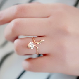 Ericdress Cute Personality Fox Shaped Ring