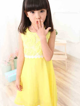 Ericdress Lace Sleeveless Girls Dress