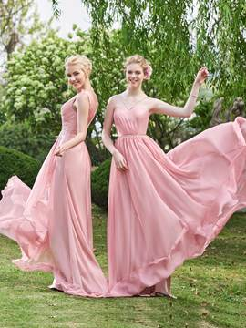Ericdress Simple A Line Long Bridesmaid Dress