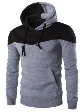 Ericdress Color Block Simple Casual Men's Hoodie