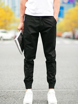 Ericdress Plain Casual Slim Men's Pencil Pants