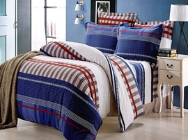 Ericdress Plaid Stripe Cotton Bedding Sets