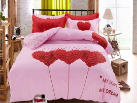Ericdress Love Season Heart Print Wedding Bedding Sets