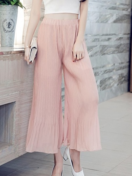 Ericdress Frill Pleated Pants