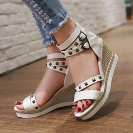 Ericdress Hot Selling Buckles&Rivets Wedge Sandals