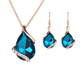 Ericdress E-Plating Water Drop Shaped Jewelry Set